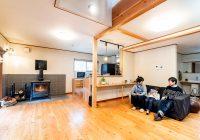 薪ストーブの温もりが家中に広がる住まい
